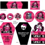 Convites para Festa Monster High