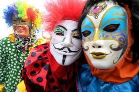 mascaras no carnaval personagem